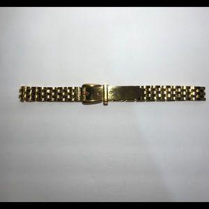 Sold🎈Gucci rich gold tone metal buckle belt